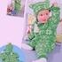 Зелёные шапочка, варежки и комбинезон