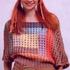 Цветные прямоугольники спицами