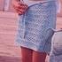 Ажурная юбка для девочки спицами