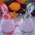 Пасхальные зайцы крючком