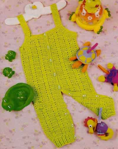 Крючка вязание на детей комбинезон