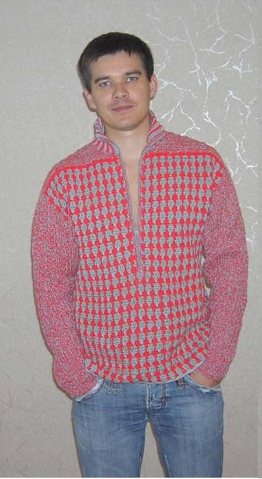 Мужская куртка крючком