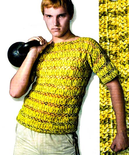 Вязание летнее для мужчин 33