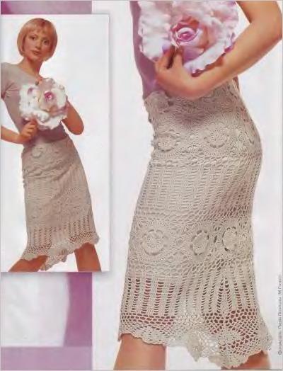 Ажурная юбка из мотивов