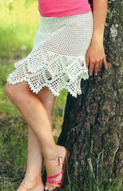 Ажурная юбка для девочки