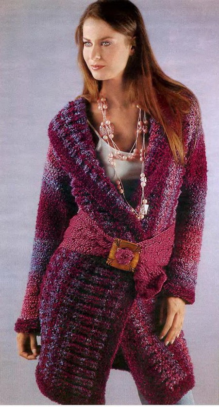 пуловер из буклированной пряжи схемы
