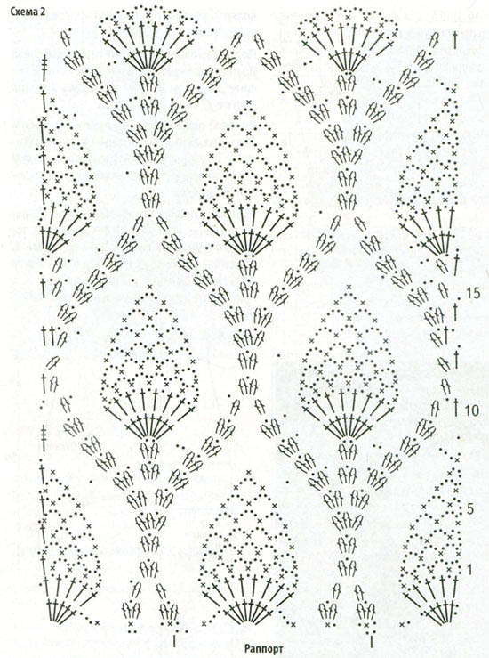Ажурное вязание крючком женские 54