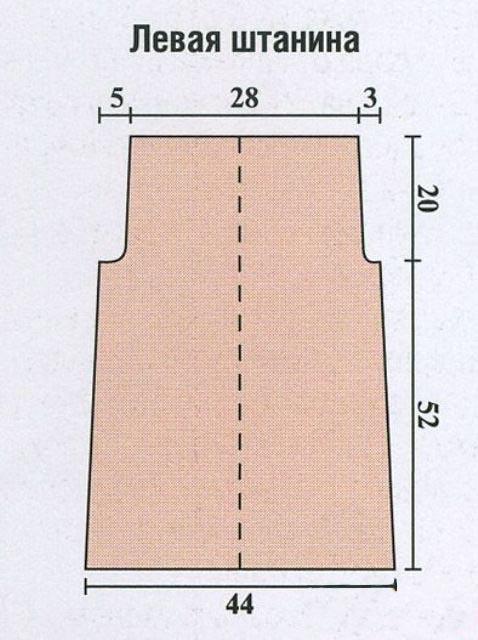 Вязание штанишек для девочки 3 лет 31