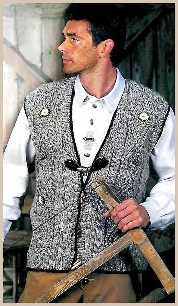меланжевый мужской жилет