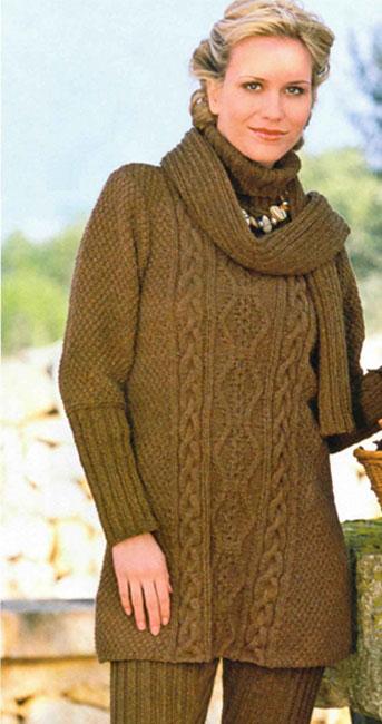 Шарф пуловер
