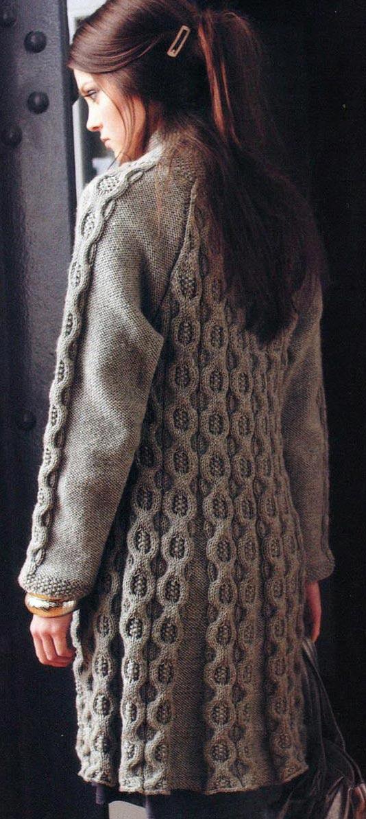 Вязание пальто спицами ютуб 63