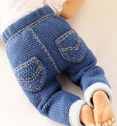 Вязание на спицах джинсы 849