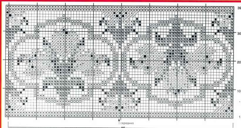 Вышивка штор крестиком схемы