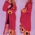 Пальто с цветочной каймой