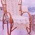Белая накидка на кресло-качалку