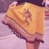 Юбка спицами с вышивкой