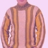 Полосатый пуловер для мужчин, вязаный крючком