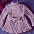 Пальто на девочку 3-4 лет спицами
