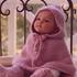Пончо с капюшоном спицами для малыша