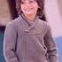 Пуловер с шалевым воротником для мальчика