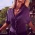 Жакет из фиолетовой пряжи
