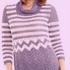 Пуловер в полоску крючком
