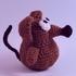 Крыса на новый год крючком в технике амигуруми